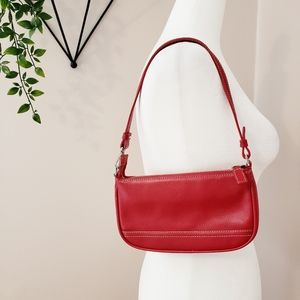 Danier | Italian Leather Small Shoulder Bag Red